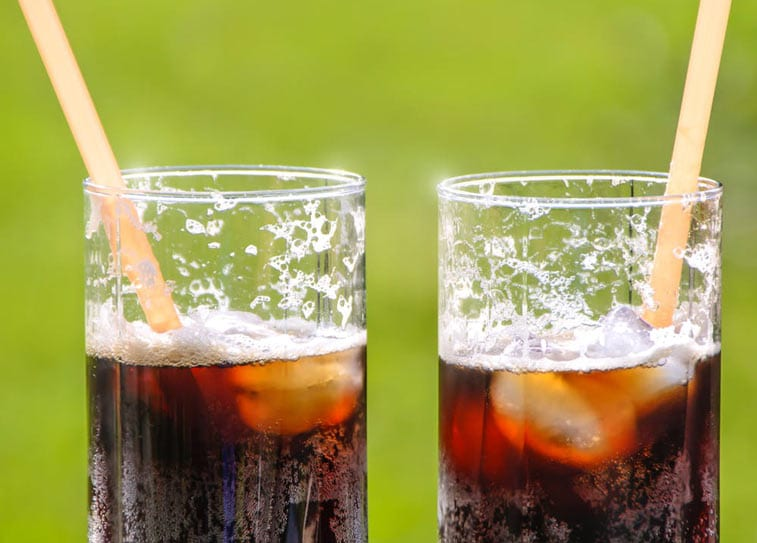 soft drinks like pepsi and coke are extremely acidic