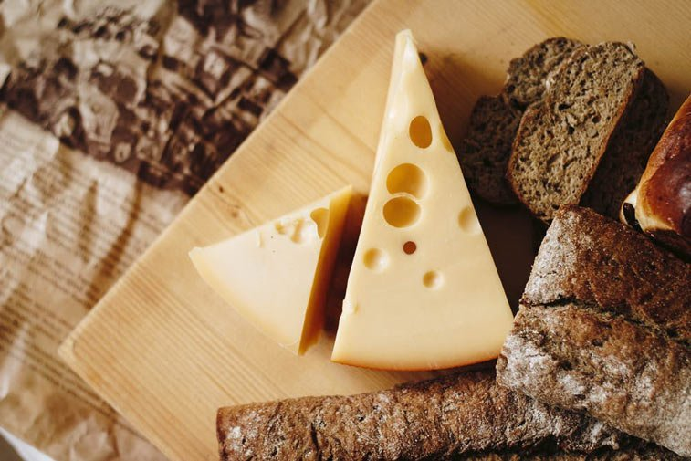 breads and cheeses